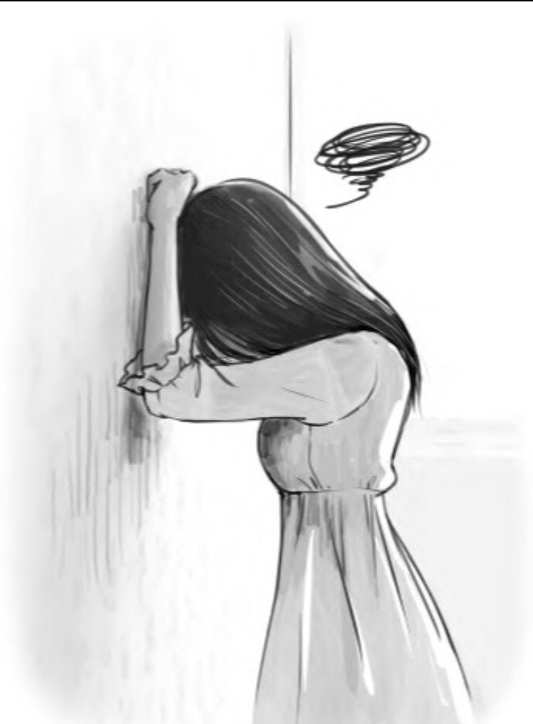 Рисунки грустных девочек карандашом