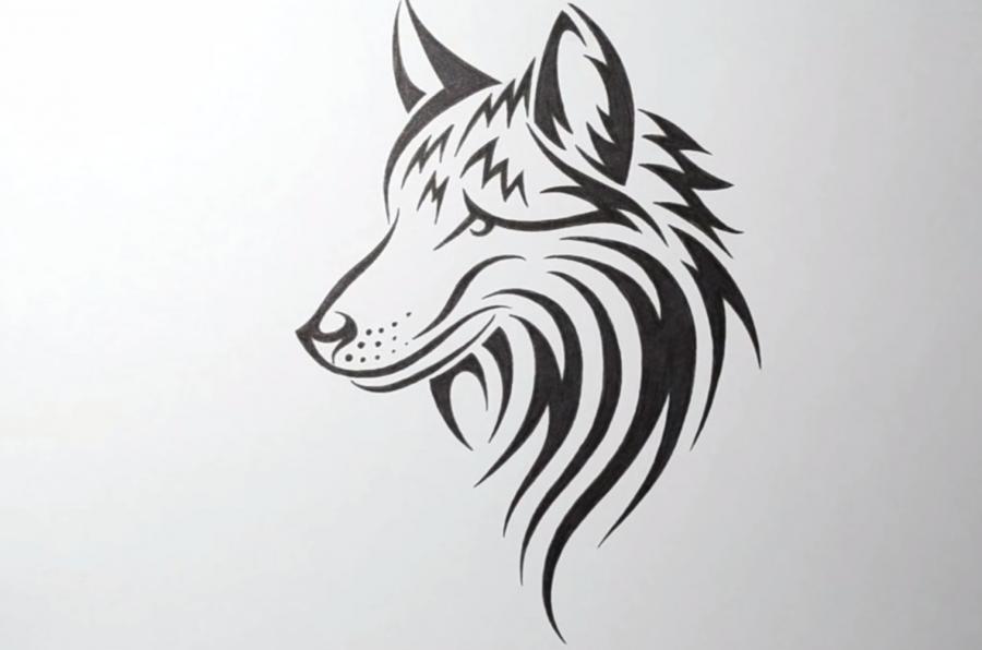 Картинки для срисовки карандашом волка