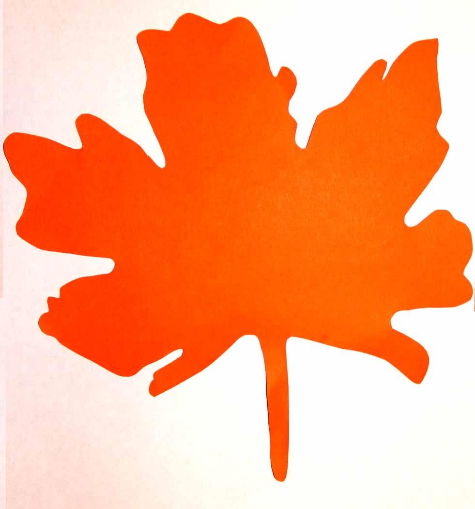 Большие осенние листья из бумаги своими руками 36