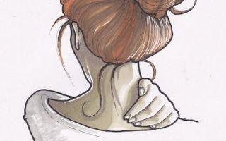 Рисунки карандашом для срисовки: девушки