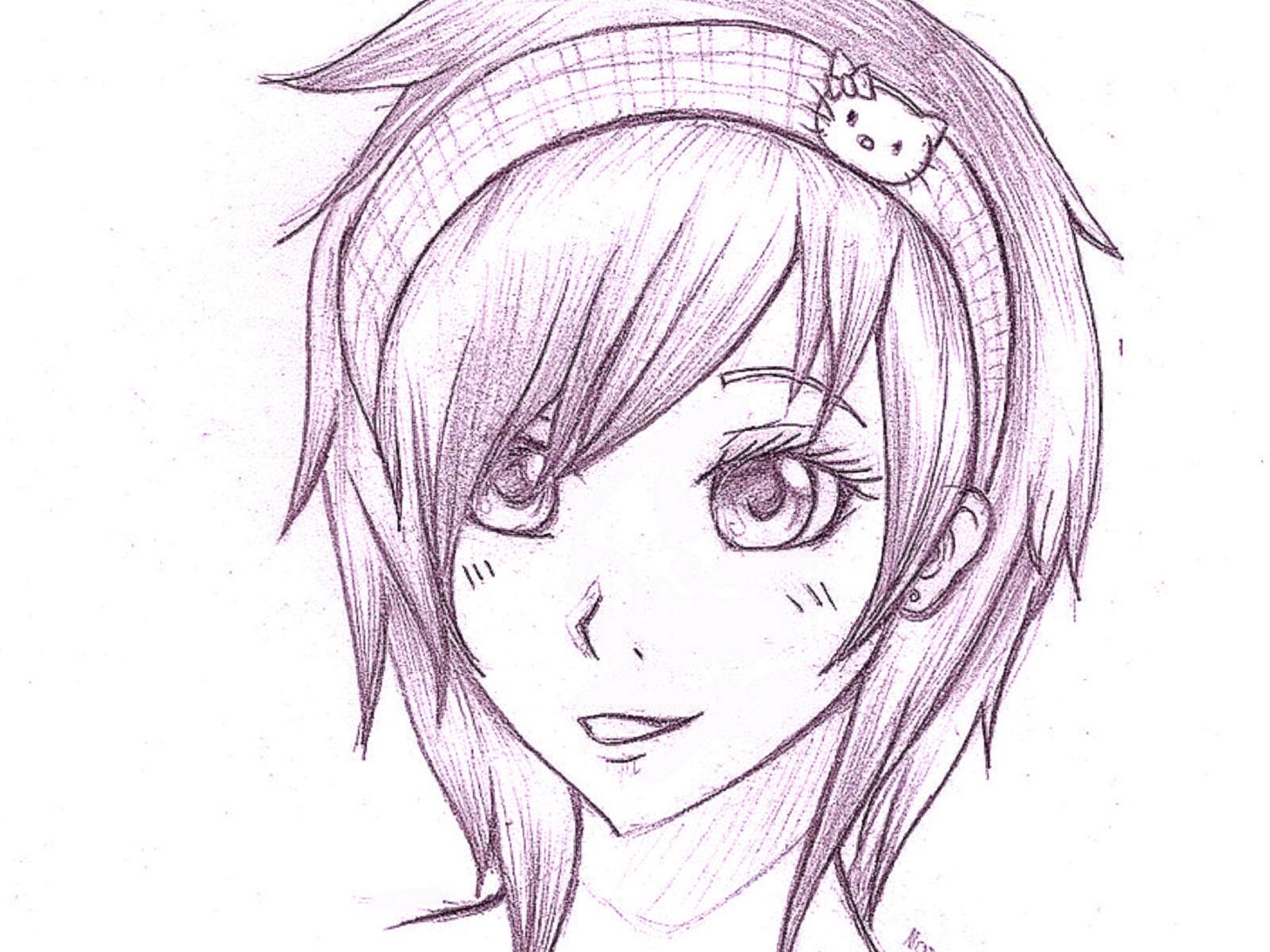 Рисунки аниме карандашом