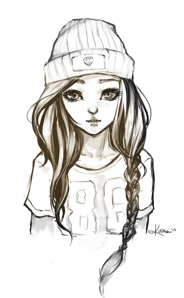 Рисунки для срисовки для девочек 10-12 лет (30 картинок)