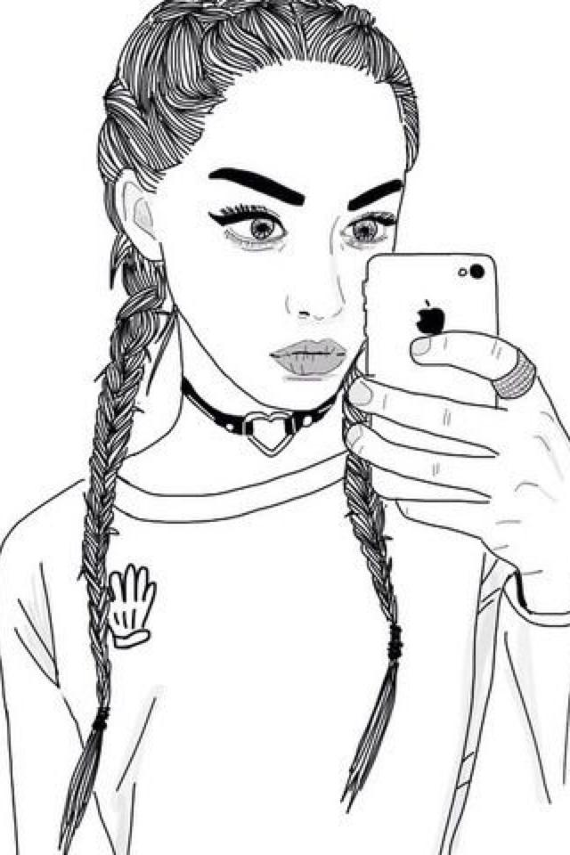 Крутые картинки девушки рисунки