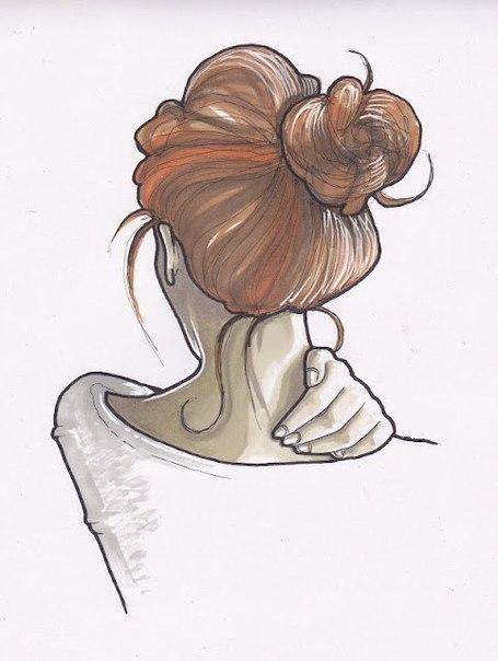 Devushki-karandashom-10 Рисунки карандашом для личного дневника для срисовки для девушек, девочек и мальчиков: описание и лучшая подборка фото. Как нарисовать разные рисунки для личного дневника карандашами поэтапно?