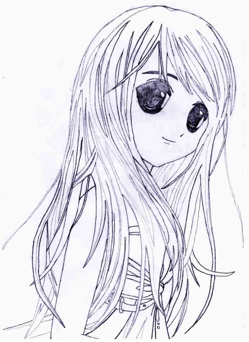 Рисунки для срисовки карандашом для девочек (30 картинок) Как Рисовать Портрет Девушки Карандашом