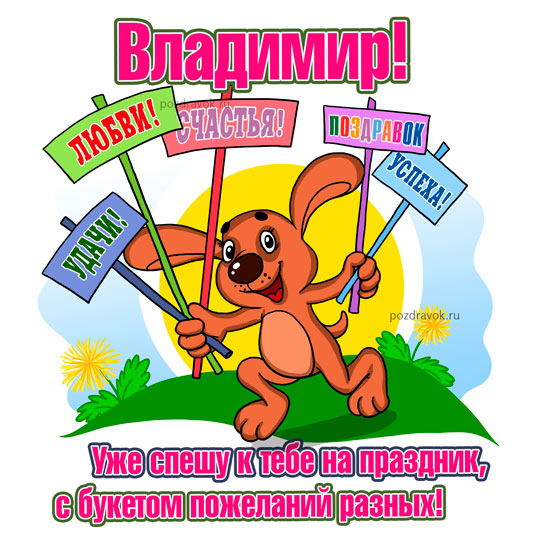 Поздравления с днем рождения Владимиру 27