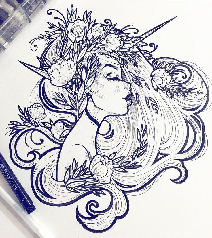 Line Art Instagram : Сложные картинки для срисовки рисунки продвинутых